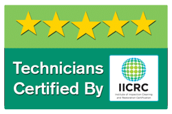 Technicians IICRC Certified